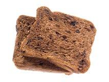 Chocolate cortado del pan aislado Imagen de archivo libre de regalías