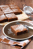 Chocolate and courgette cake Stock Photos