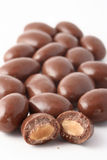 Chocolate Covered Almonds Stock Images