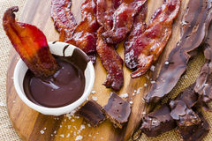 Chocolate covered bacon Stock Photography