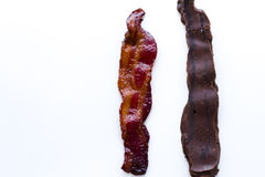 Chocolate covered bacon Stock Images
