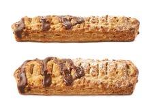 Chocolate covered banana strudel bun Stock Photo