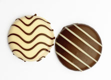 Chocolate covered biscuits Royalty Free Stock Image