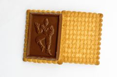 Chocolate covered biscuits Stock Photo