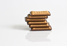Chocolate covered biscuits in the pyramid Royalty Free Stock Image
