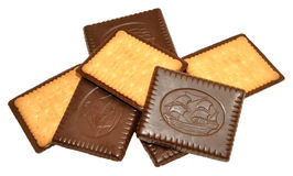 Chocolate Covered Biscuits Stock Photos
