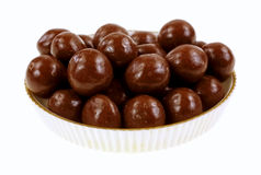 Chocolate Covered Carmel Balls Stock Photography