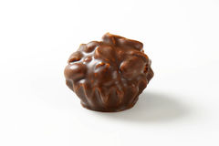 Chocolate covered cookie with peanut filling Royalty Free Stock Photography