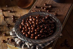 Chocolate Covered Espresso Coffee Beans. Ready to Eat stock photo