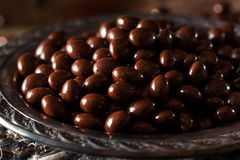 Chocolate Covered Espresso Coffee Beans. Ready to Eat royalty free stock image