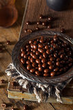 Chocolate Covered Espresso Coffee Beans. Ready to Eat stock photos
