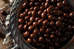 Chocolate Covered Espresso Coffee Beans. Ready to Eat royalty free stock photo