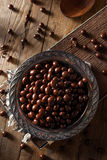 Chocolate Covered Espresso Coffee Beans. Ready to Eat royalty free stock photography