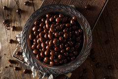 Chocolate Covered Espresso Coffee Beans. Ready to Eat stock images