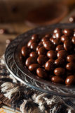 Chocolate Covered Espresso Coffee Beans. Ready to Eat stock photography