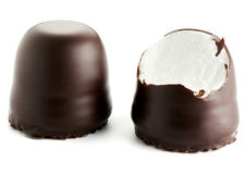 Chocolate covered marshmallows Stock Photography