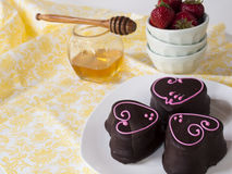 Chocolate Covered Marshmallows Stock Images