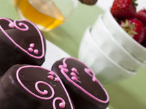 Chocolate Covered Marshmallows Royalty Free Stock Images