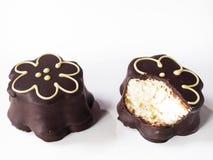 Chocolate Covered Marshmallows Stock Photos