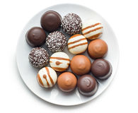 Chocolate covered marshmallows Royalty Free Stock Image