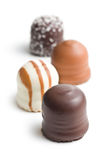 Chocolate covered marshmallows Royalty Free Stock Photography