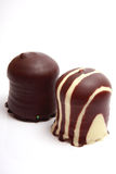 Chocolate covered meringue confection Royalty Free Stock Photography