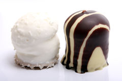 Chocolate covered meringue confection Royalty Free Stock Photos