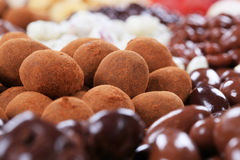 Chocolate covered nuts Royalty Free Stock Image