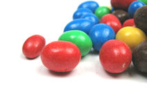 Chocolate covered peanuts close-up Royalty Free Stock Photos