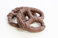 Chocolate covered pretzels Stock Photo