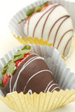 Chocolate covered strawberries Royalty Free Stock Images