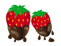 Chocolate Covered Strawberries Royalty Free Stock Photography