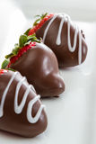 Chocolate covered strawberries Royalty Free Stock Photo