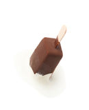 Chocolate covered vanilla ice cream bar Royalty Free Stock Image