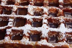 Chocolate covered waffle Royalty Free Stock Images