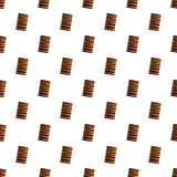 Chocolate crack cookies pattern seamless vector royalty free illustration