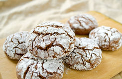 Chocolate crack cookies Royalty Free Stock Images