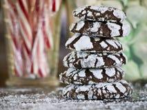 Chocolate crackle cookies Stock Photo