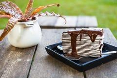 Chocolate Crape Cake Royalty Free Stock Photos