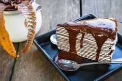 Chocolate crape cake Royalty Free Stock Photography