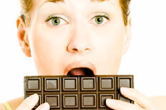 Chocolate craving Stock Photos