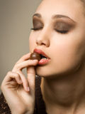 Chocolate cravings. Royalty Free Stock Images