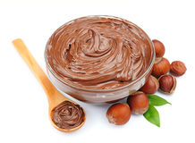 Chocolate cream Stock Images