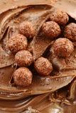 Chocolate cream Stock Images