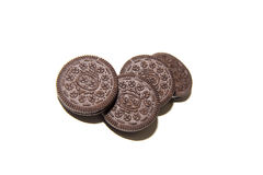 Chocolate cream biscuit Royalty Free Stock Images