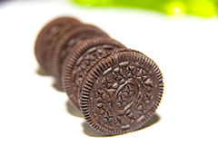 Chocolate cream biscuit Royalty Free Stock Image