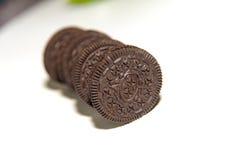 Chocolate cream biscuit Stock Photo