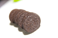 Chocolate cream biscuit Royalty Free Stock Photography