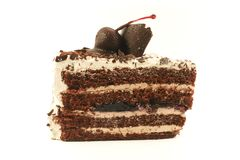 Chocolate Cream Cake Royalty Free Stock Photos