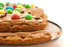 Chocolate cream cake Royalty Free Stock Photos